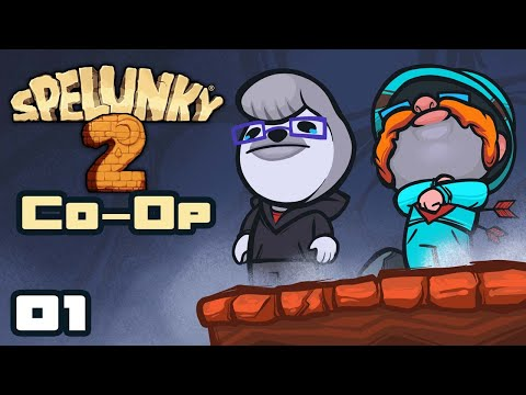 We Are Agents And Victims Of Chaos! - Let's Play Spelunky 2 [Co-Op With  @Retromation ] - Part 1