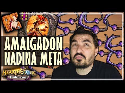 THE AMALGADON + NADINA META BEGINS! - Hearthstone Battlegrounds