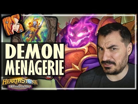 DEMON MENAGERIE IS A BUILD?! - Hearthstone Battlegrounds