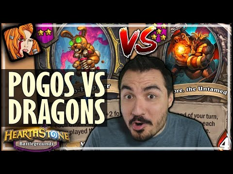 BEATING POGOS WITH DRAGONS?! - Hearthstone Battlegrounds