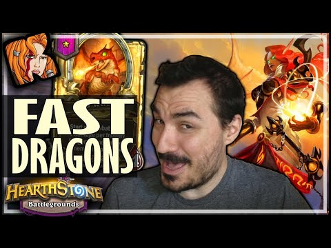 DRAGONS IN A FAST GAME?! - Hearthstone Battlegrounds