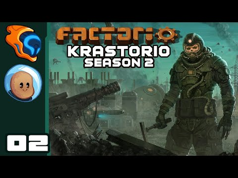 Moats Are Superior To Walls - Let's Play Factorio [Krastorio Season 2 with @Orbital Potato] - Part 2