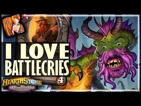 GOTTA LOVE THOSE BATTLECRIES! - Hearthstone Battlegrounds