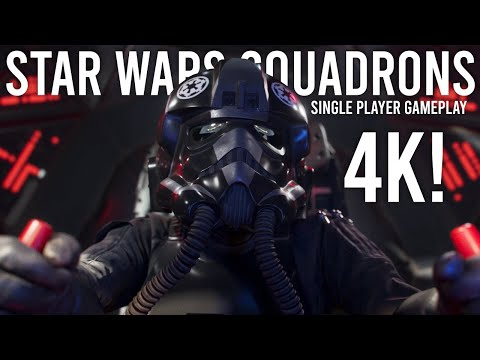 Star Wars Squadrons Single Player Gameplay in 4K!