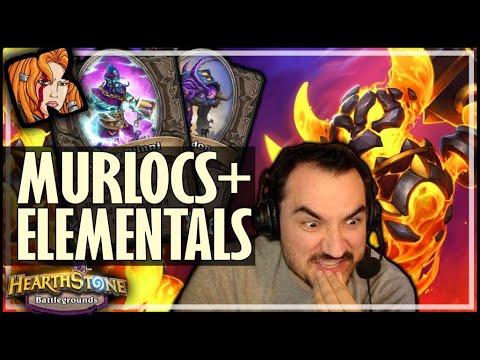 MURLOCS CAN FUSE WITH ELEMENTALS?! - Hearthstone Battlegrounds