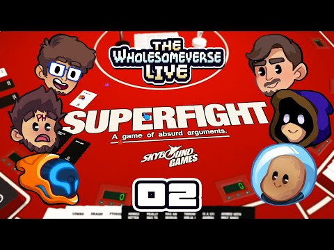 SAD SUPERMAN VS GIANT MECHA JASON - Tabletop Sim: Superfight [Wholesomeverse Live] - Part 2