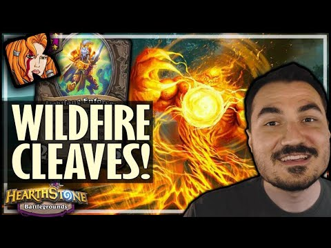 REPLICA CLEAVES WITH WILDFIRE ELEMENTAL! - Hearthstone Battlegrounds
