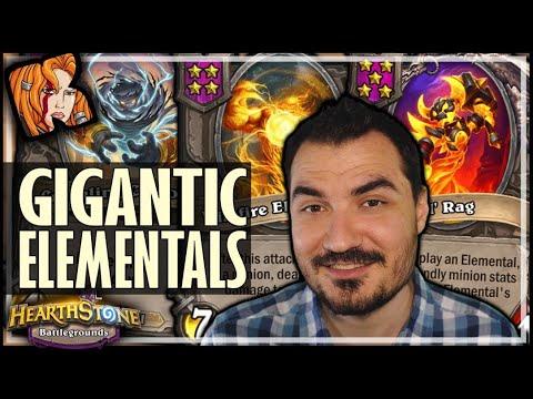 GIGANTIC ELEMENTAL BATTLE! - Hearthstone Battlegrounds