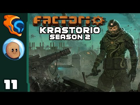 Bringing The Beeg Guns! - Let's Play Factorio [Krastorio Season 2 with @Orbital Potato] - Part 11