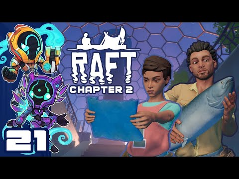 To Caravan Island! - Let's Play Raft [Chapter 2 | Co-Op] - PC Gameplay Part 21