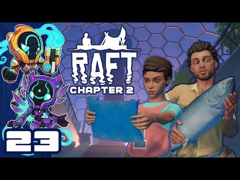 The Pigs Must Be Purged! - Let's Play Raft [Chapter 2 | Co-Op] - PC Gameplay Part 23