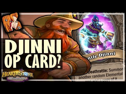 THESE DJINNIES ARE SO UNDERRATED! - Hearthstone Battlegrounds