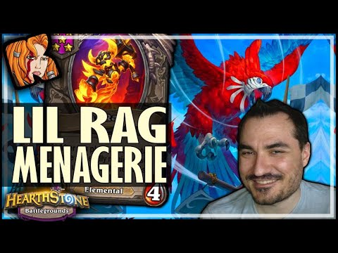 RAG MENAGERIE CAN'T BE BEAT?! - Hearthstone Battlegrounds