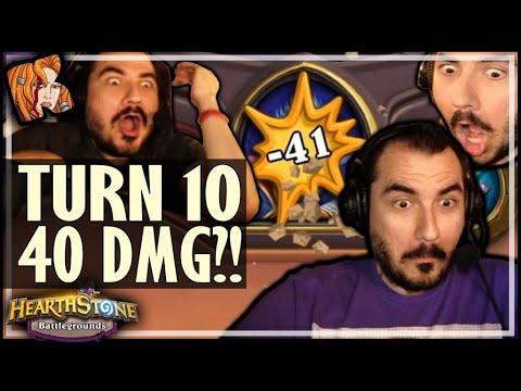 TURN 10 = 40 DAMAGE ROUND?! - Hearthstone Battlegrounds