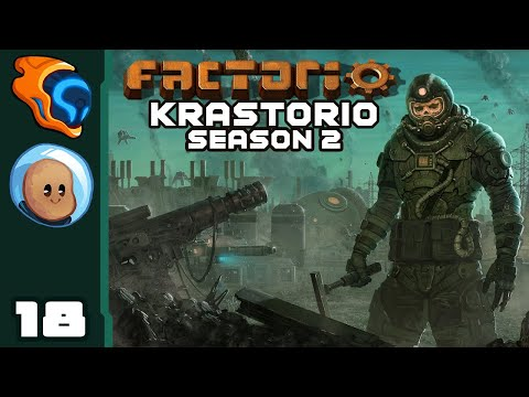 The Enemy's Gate Is Down - Let's Play Factorio [Krastorio Season 2 | @Orbital Potato] - Part 18