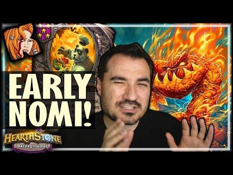 EARLY NOMI = BREAK GAME?! - Hearthstone Battlegrounds