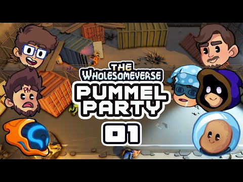 Janky Off-Brand Mario Party?! - Let's Play Pummel Party [Wholesomeverse Live] - Part 1