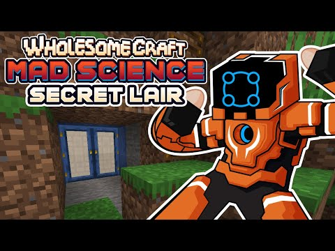 Excavating My Secret Mountain Lair! - Wholesomecraft: Mad Science [Modded Minecraft]