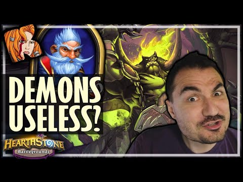 AND THEY ALL CALLED DEMONS USELESS! - Hearthstone Battlegrounds