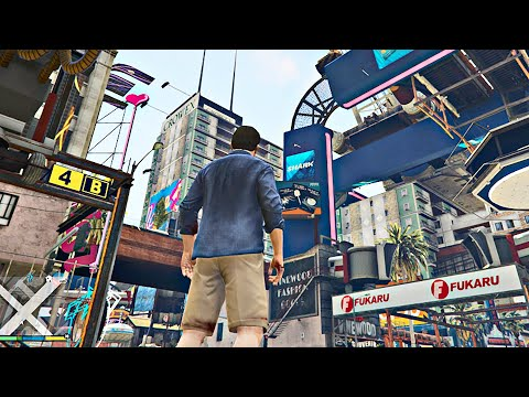 CYBERPUNK 2077 in GTA 5! Gameplay Walkthrough (Mode) [4K 60FPS]