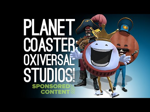 Planet Coaster Gameplay: IF OUTSIDE XBOX WAS A THEME PARK - Let's Play Planet Coaster (Sponsored)