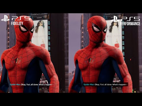 Marvel's Spider-Man Remastered PS5 - Performance vs Fidelity Comparison