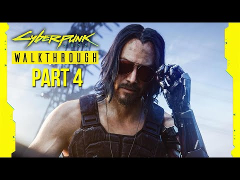 CYBERPUNK 2077 Gameplay Walkthrough Part 4 - CONTROLLING JOHNNY SILVERHAND (Full Game) RTX