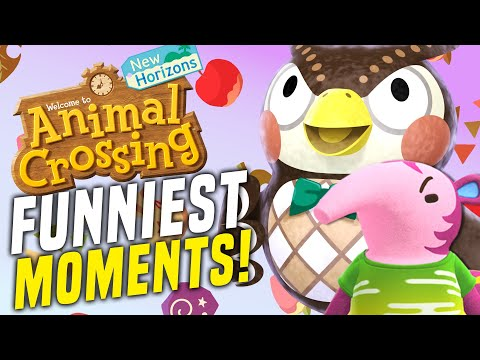 Top 10 Animal Crossing FUNNY MOMENTS! (New Horizons ACNH)