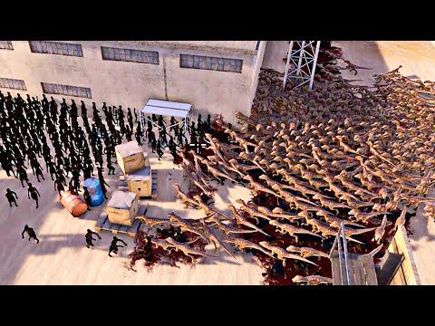 2000 Velociraptors vs 2000 Mummies - Ultimate Epic Battle Simulator