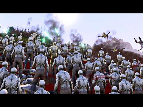3000 Zombies vs 3000 Mummy Pharaohs - Ultimate Epic Battle Simulator