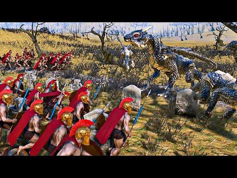 10 Dragons vs 300 Spartans - Ultimate Epic Battle Simulator