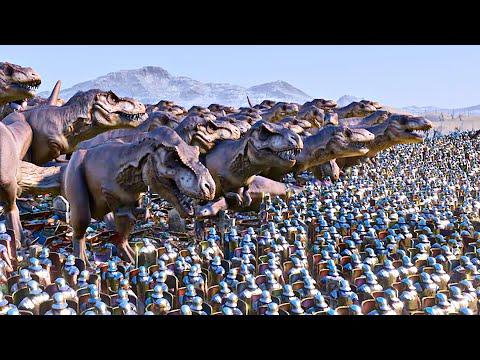 500 T-REX vs 60,000 Romans - Ultimate Epic Battle Simulator