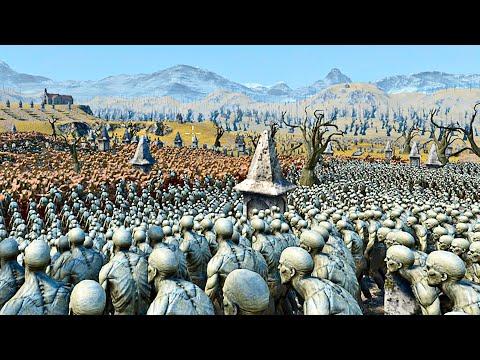 5000 Velociraptors vs 100,000 Zombies - Ultimate Epic Battle Simulator