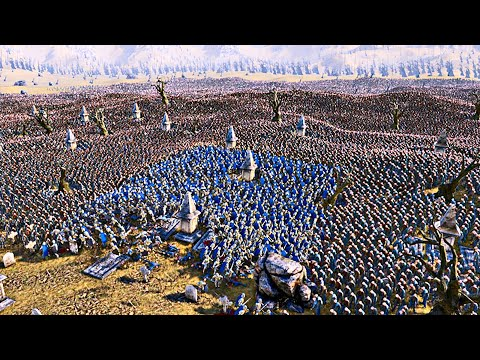 1000 Heavy Knights vs 100,000 Running Zombies - Ultimate Epic Battle Simulator