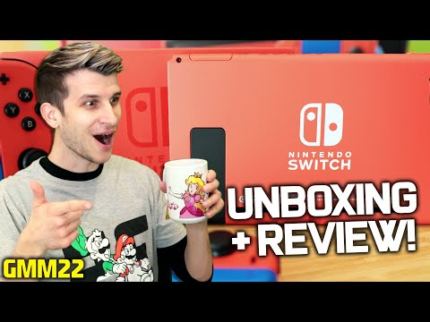 Nintendo Switch MARIO EDITION Unboxing! Red & Blue Console Review + Mario Joycons! (GMM22)