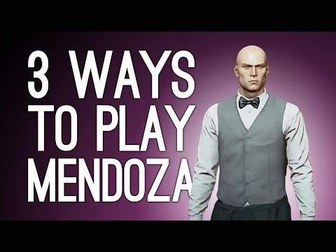 Hitman 3 Mendoza! 3 Ways to Play! CHANDELIER TRAP! WOODCHIPPER! DIANA?! (Part 2 of 2)