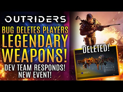 Outriders - A New Bug Deletes Player's ENTIRE Legendary Weapons Collection! Dev Respond! New Updates