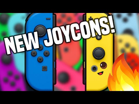 New Joy Cons SUPRISE REVEAL! Banana Blue Set For Nintendo Switch In 2021! (Fortnite Joy Cons)