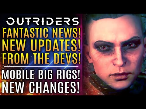 Outriders - FANTASTIC NEWS!  Dev Team Gives New Updates! New Gameplay Changes! Convoy Customization!
