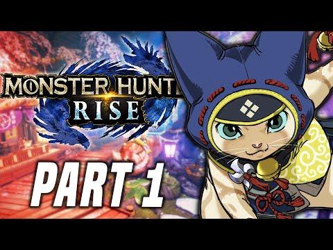 Monster Hunter Rise Gameplay Walkthrough Part 1 - FULL GAME - Nintendo Switch