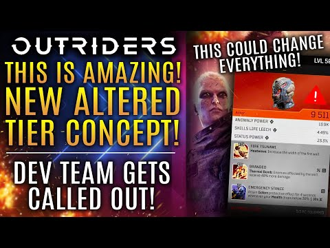 Outriders - Dev Team Gets CALLED OUT!  Here's Their Response! New Altered Tier Loot Concept!