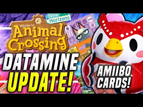 HUGE ACNH DATAMINE! New Animal Crossing Update! New Amiibo Cards New Horizons 2.0! (Switch Update)