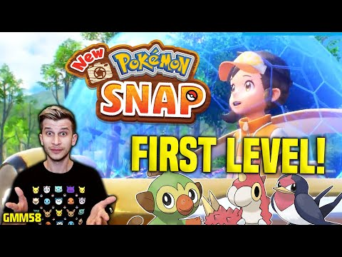 New Pokemon Snap Gameplay - FIRST LEVEL + REACTION! (Nintendo Switch)