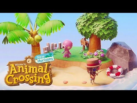 Building a HUGE Water Park! New Animal Crossing Island! (New Horizons Update - ACNH)