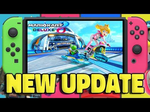 NEW 2021 UPDATE! Mario Kart 8 Deluxe Gets A Nintendo Switch Update...
