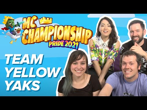 Minecraft Championship Pride 2021 - Team Yellow Yaks   MCC Pride 2021 for The Trevor Project!