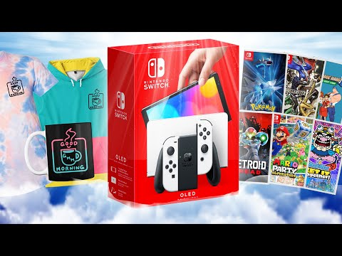 Nintendo Switch OLED Big Giveaway! + Limited Edition Merch Drop!