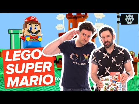 Lego Super Mario: WHAT HAVE YOU DONE TO BOWSER JR? Let's Build Mario Lego Starter Set!