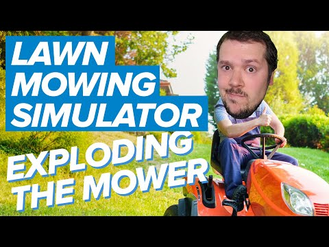 Lawn Mowing Simulator: EXPLODING THE MOWER   Lawn Mowing Simulator Gameplay (Xbox Series X)