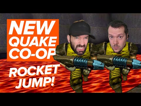 Quake Remastered Co-op Gameplay: ROCKET JUMP!   Andy and Mike play New Quake Episode!